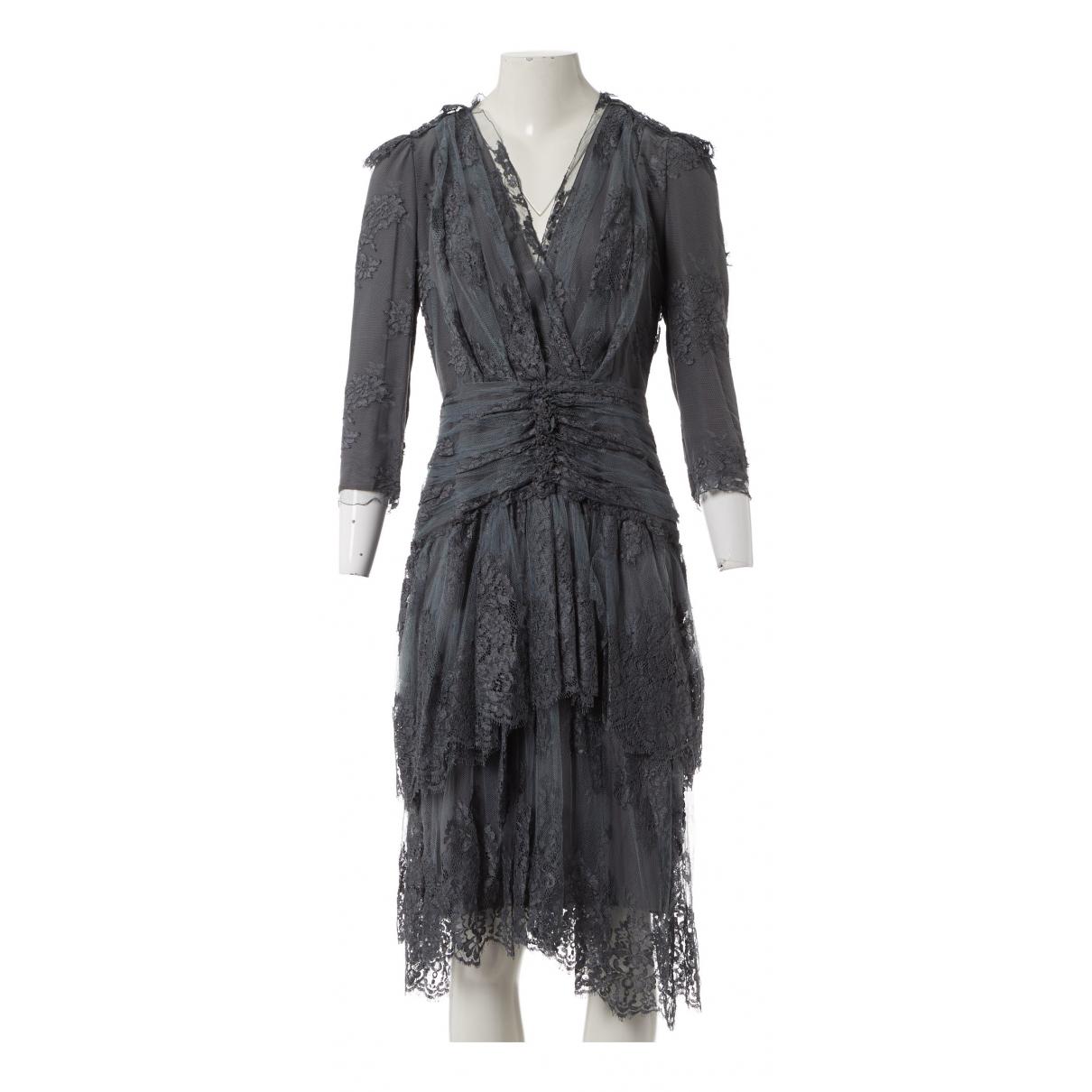 Burberry \N Kleid in  Grau Viskose