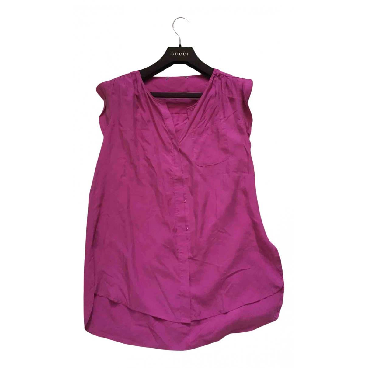 - Top Oversize pour femme en soie - rose