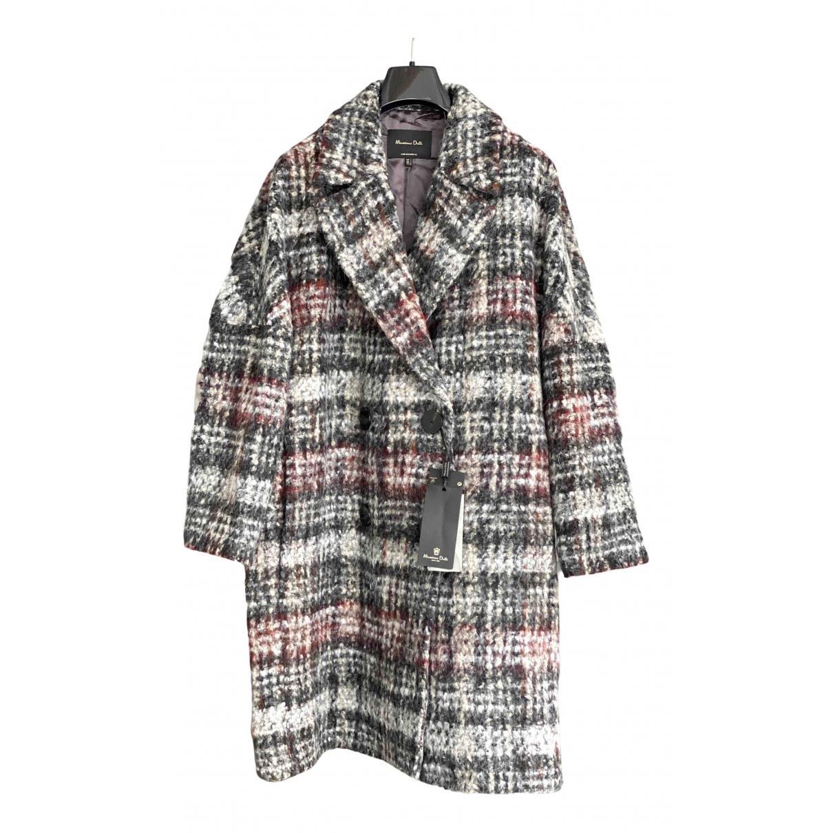 Massimo Dutti - Manteau   pour femme en laine - multicolore