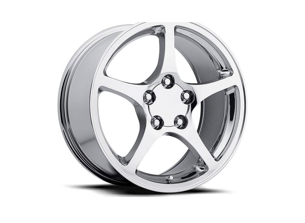 Factory Reproduction Series 20 Wheels 17x8.5 5x4.75 +54 HB 70.3 2000 C5 Corvette Chrome w/Cap