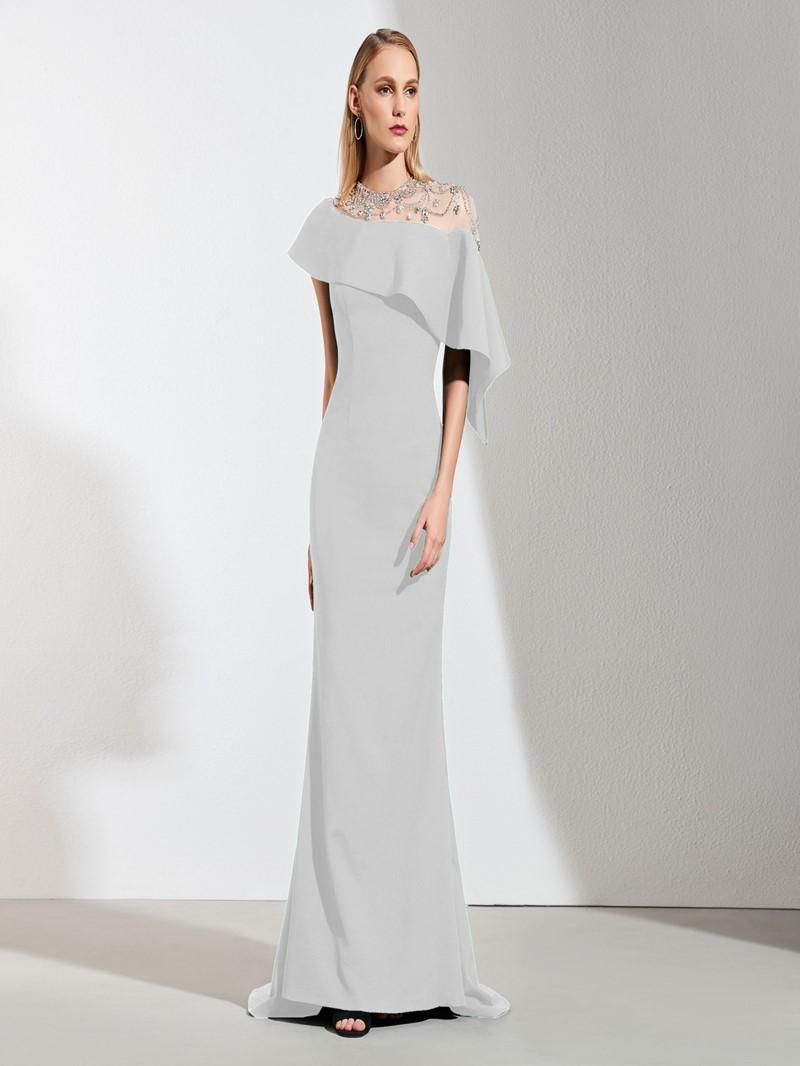 Ericdress Elegant Black Mermaid Black Prom Dress With Beadings