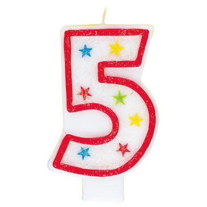 Birthday Candle & Happy Birthday Cake Topper Glitter Number