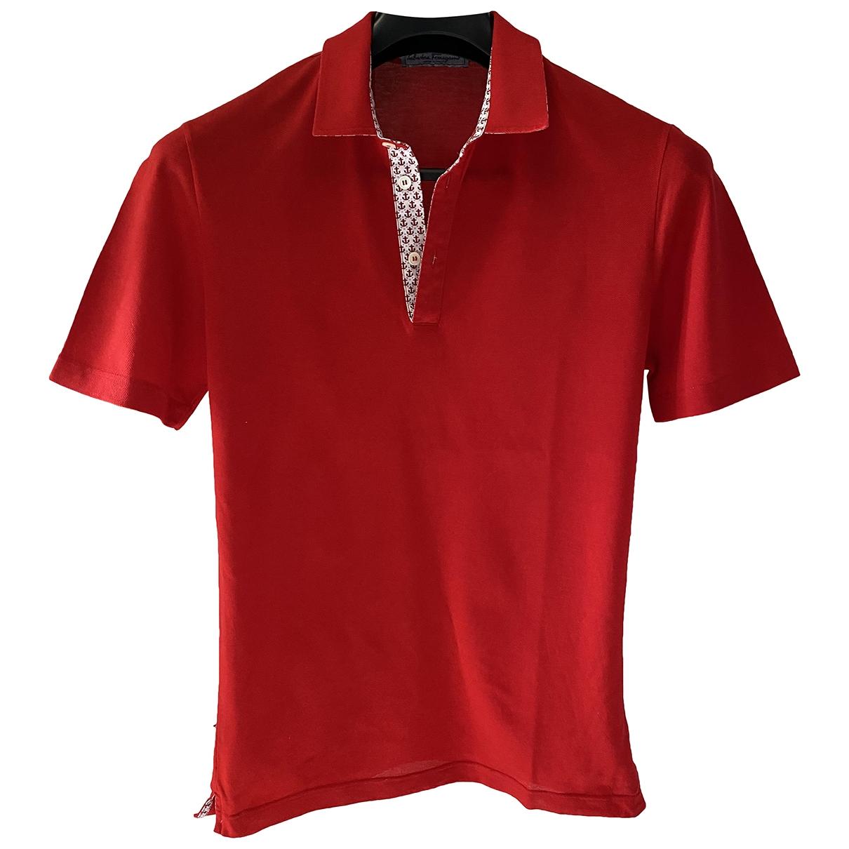 Salvatore Ferragamo \N Red Cotton Polo shirts for Men S International
