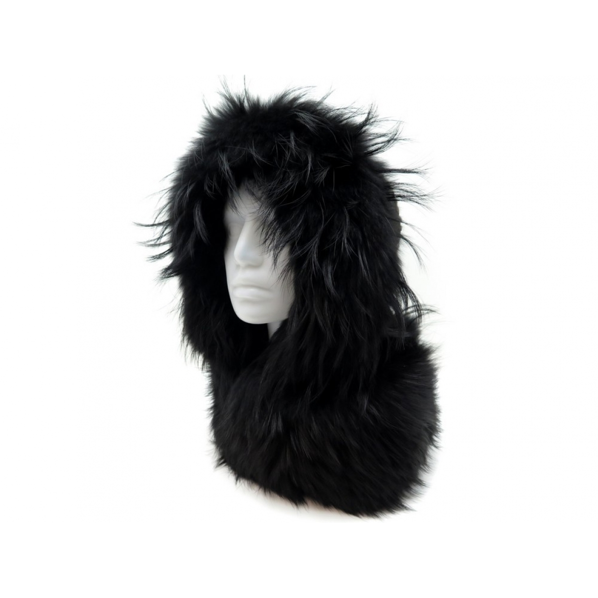 Chanel - Foulard   pour femme en renard - noir