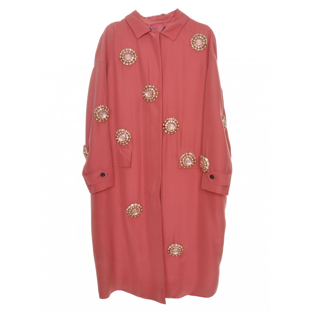 Burberry - Manteau   pour femme - rose