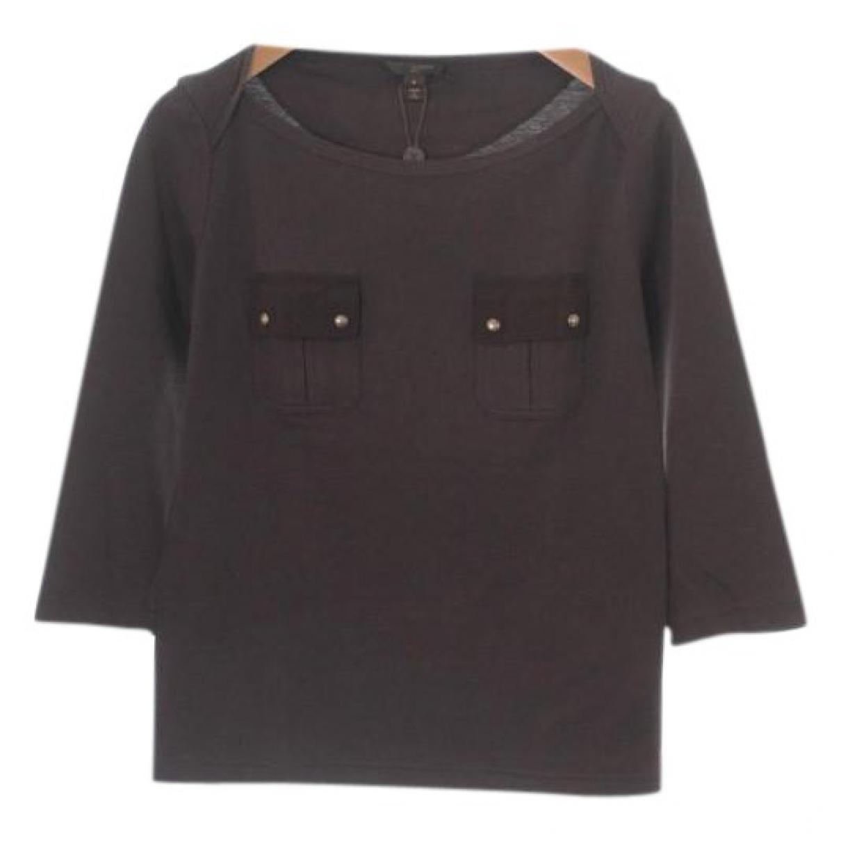 Louis Vuitton - Top   pour femme en coton - marron
