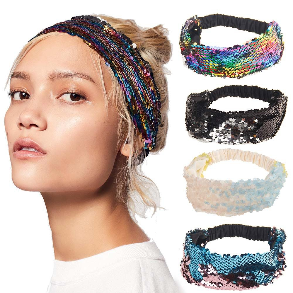 Fashion Colorful Sequins Headband Hair Holder Girls Party Hair Accessories Gift for Women