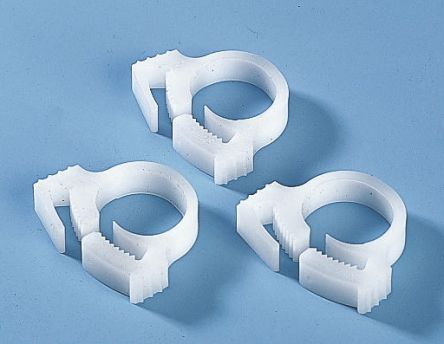 HellermannTyton Cable Clip Natural Polyacetal Snapper Hose Clip, 11.4mm Max. Bundle