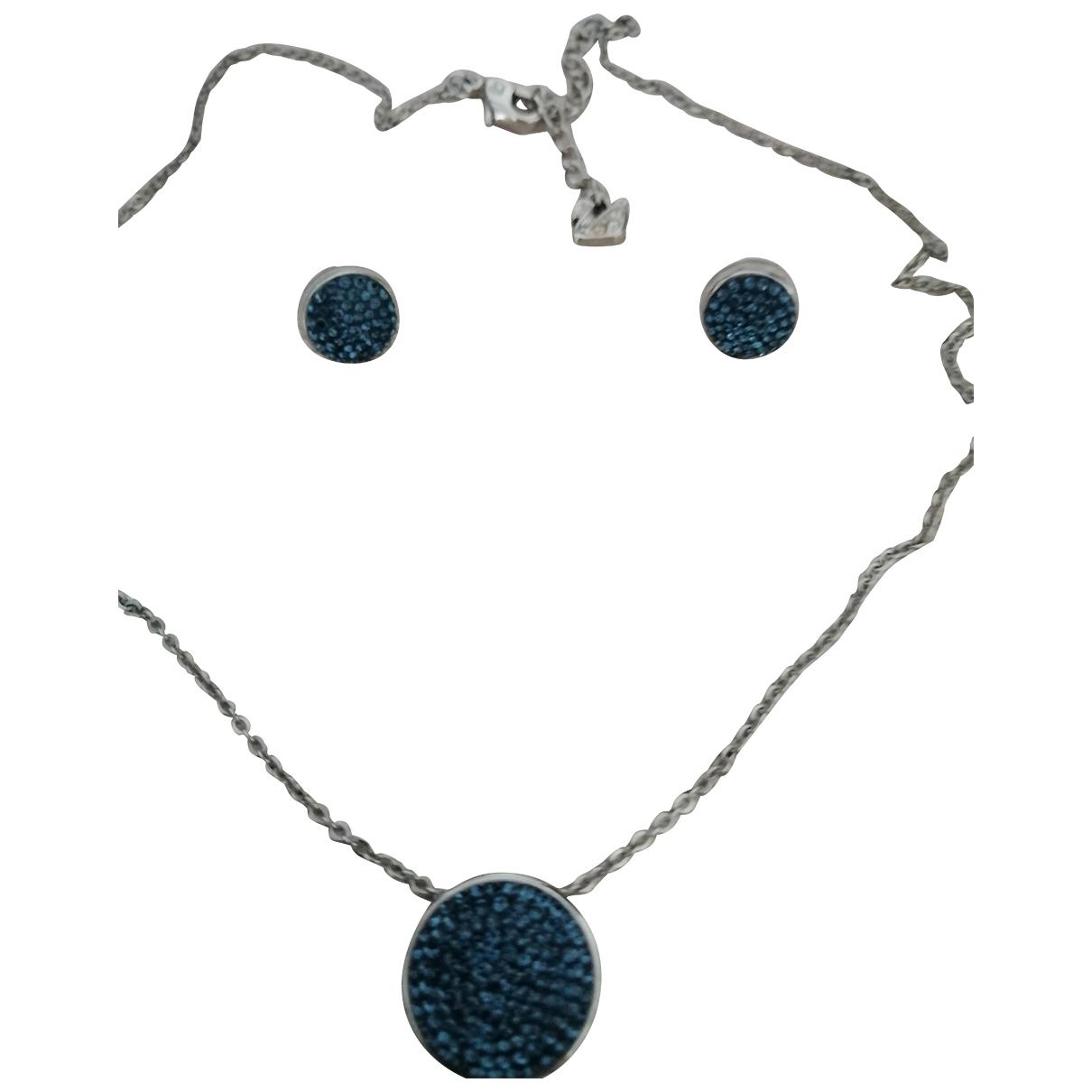 Swarovski N Blue Metal Jewellery set for Women N