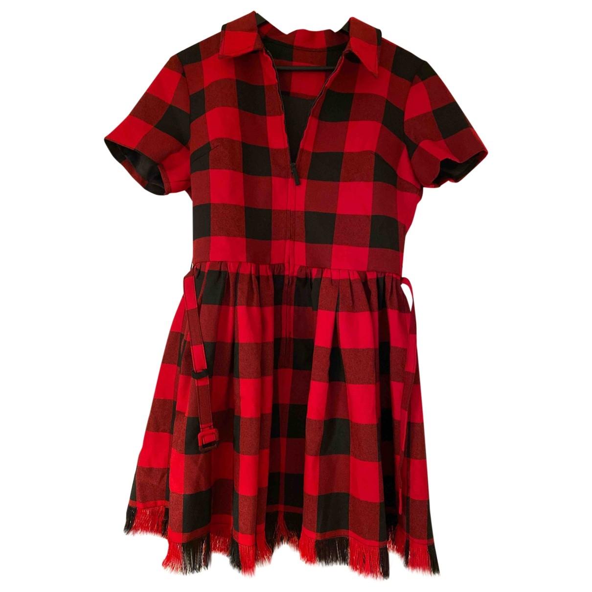 - Robe   pour femme en coton - rouge