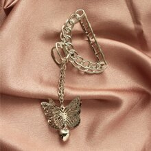 Butterfly Decor Chain Hair Claw