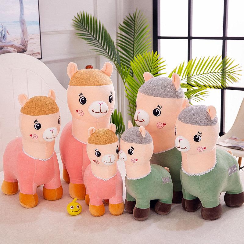 40/50/60cm Cute Alpaca Skin-friendly Soft Touching Spandex Fabric Dolls Toys Birthday Valentine Gift