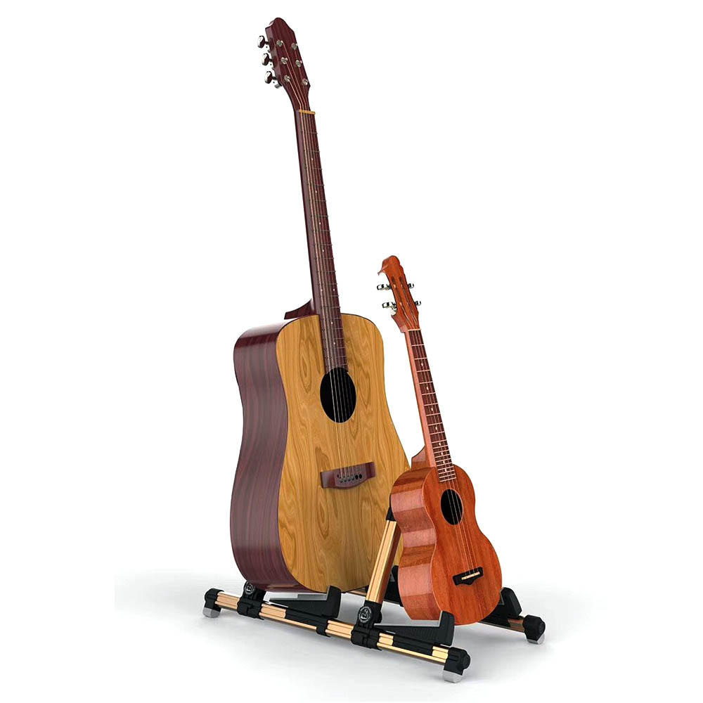 Galux GS-201 2 in 1 Double Holders Guitar Stand Adjustable Stand for Electric Guitar Bass Guitar