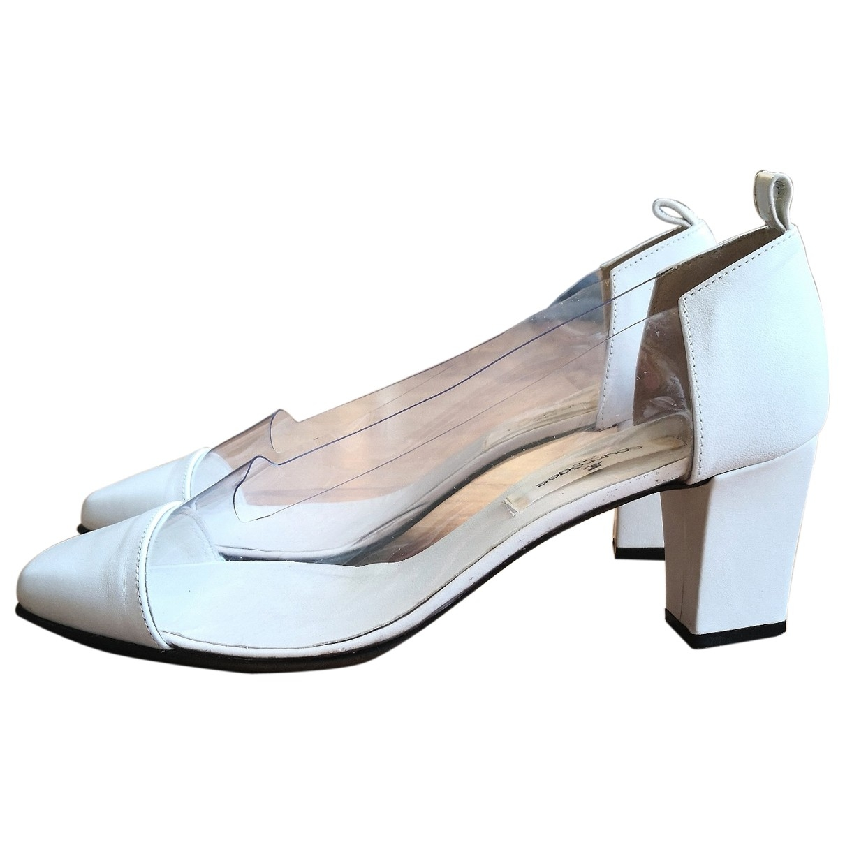 Courrèges \N White Leather Heels for Women 39 EU