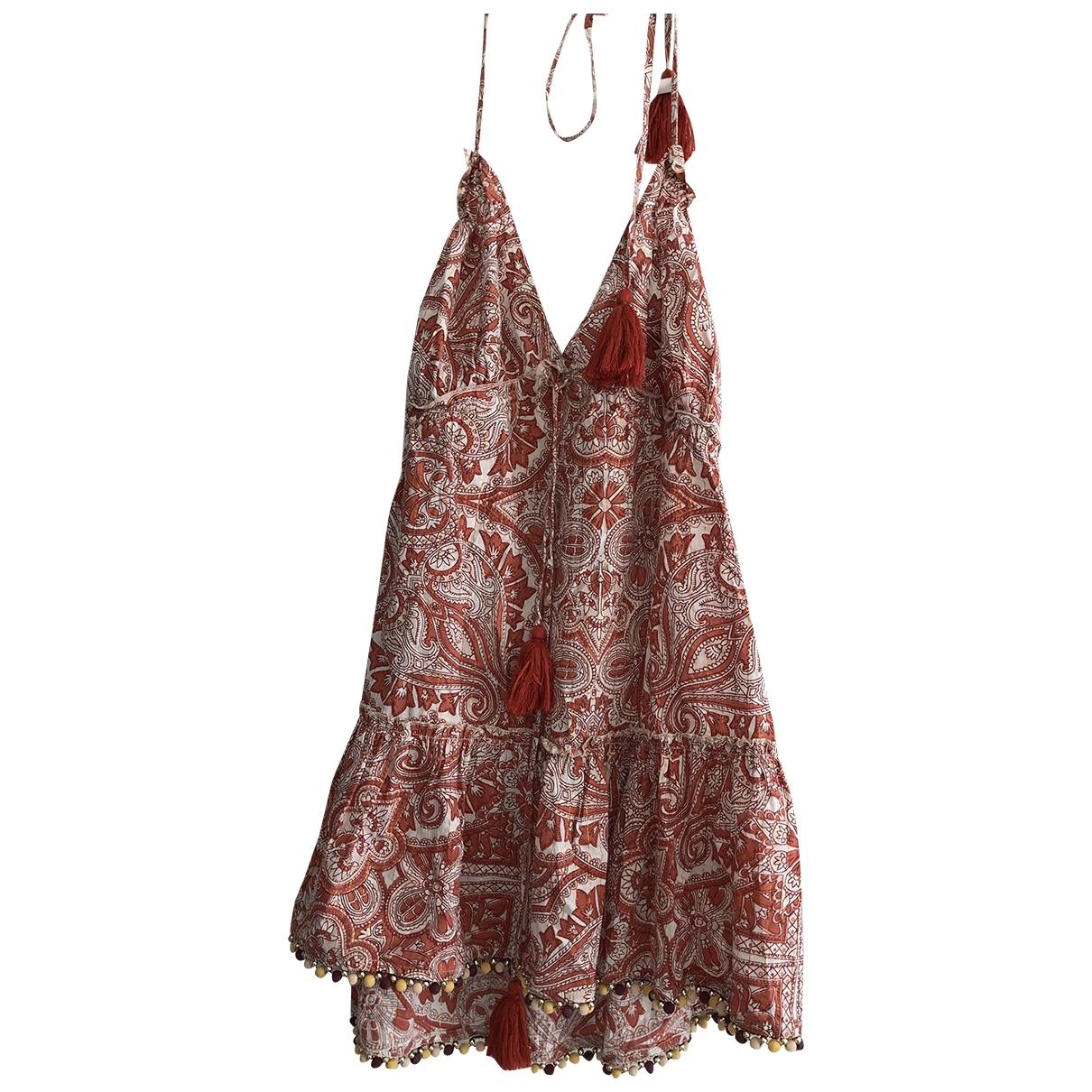 Tularosa \N Kleid in  Rot Baumwolle