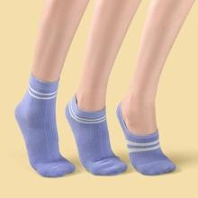 3pairs Striped Pattern Socks