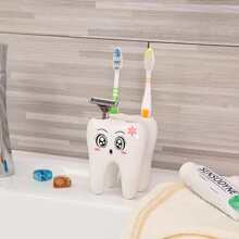 1pc Tooth Shaped Toothbrush Holder