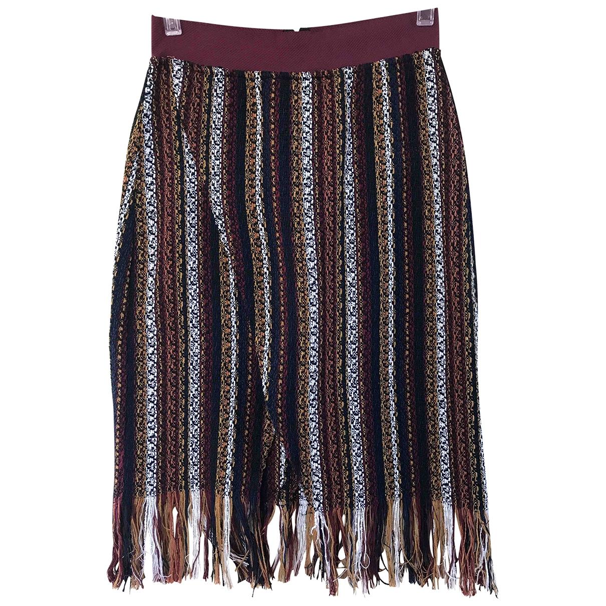 Zara - Jupe   pour femme en coton - multicolore