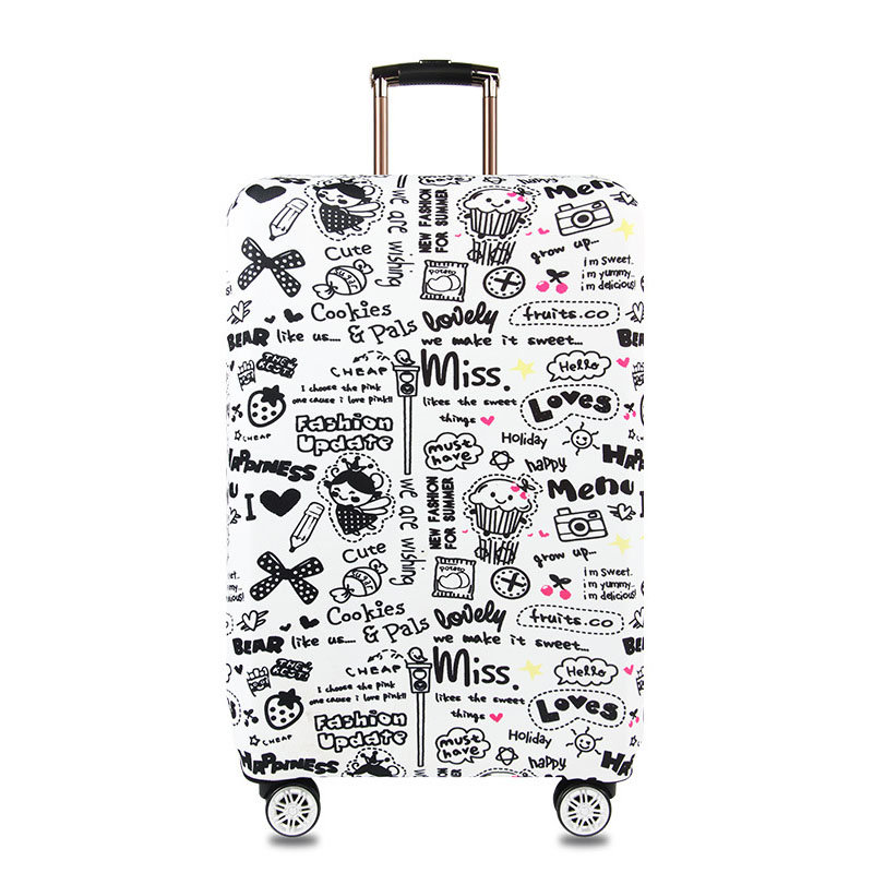 Graffiti Style Elastic Luggage Cover Trolley Case Cover Durable Suitcase Protector