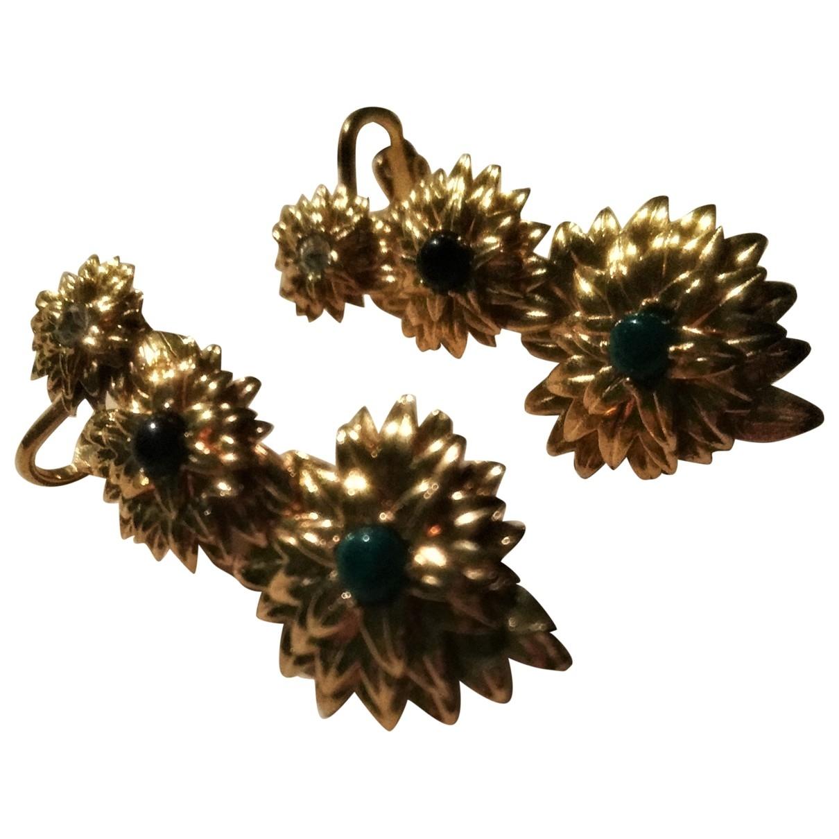 Hipanema - Boucles doreilles   pour femme en plaque or - multicolore