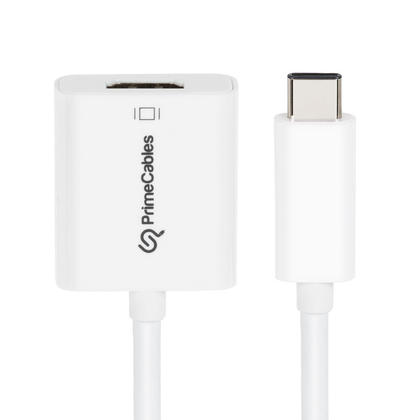 USB-C Type-C to HDMI Adapter, Up to 1080P HD - White - PrimeCables®