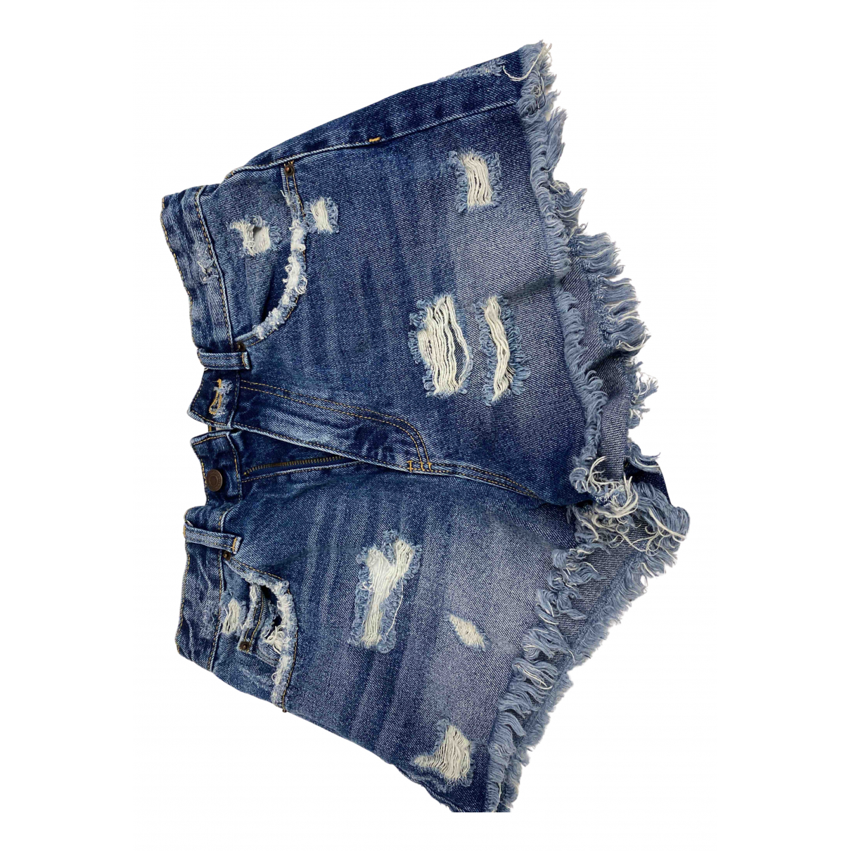 Zara \N Shorts in  Blau Denim - Jeans