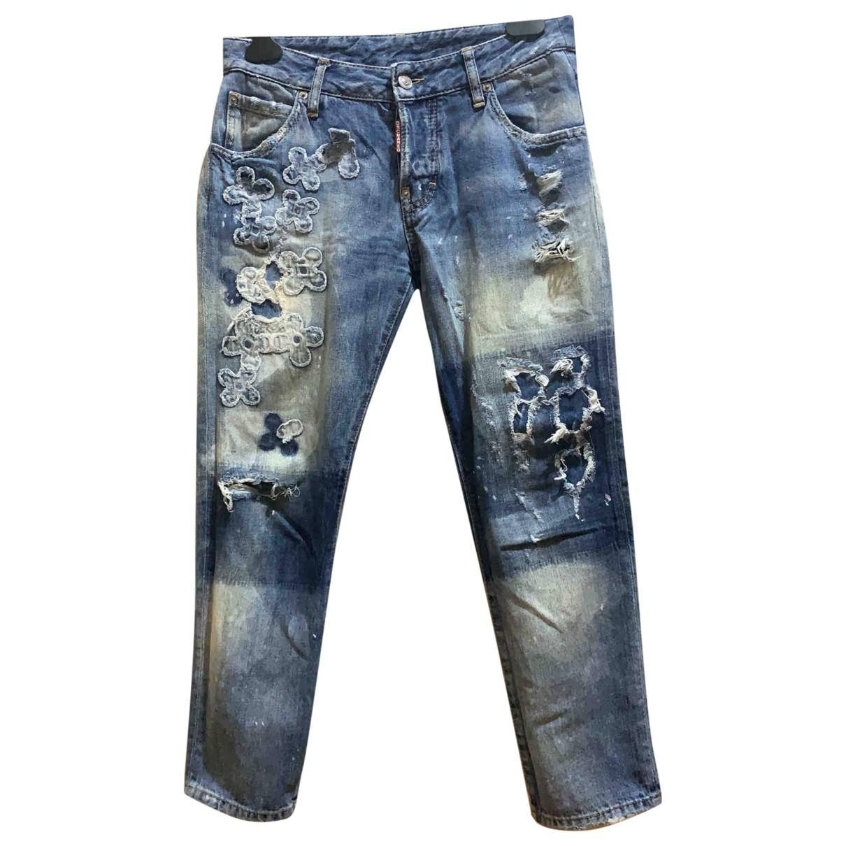 Dsquared2 \N Blue Denim - Jeans Jeans for Women 42 FR
