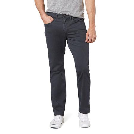 Dockers Men's Straight Fit Jean Cut Khaki All Seasons Tech Pants D2, 32 34, Black