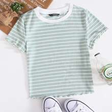 Lettuce Edge Striped Tee