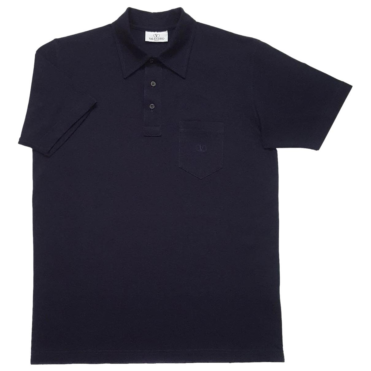 Valentino Garavani \N Poloshirts in  Blau Baumwolle
