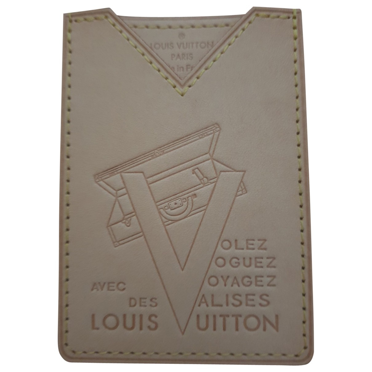Louis Vuitton \N Kleinlederwaren in  Beige Leder
