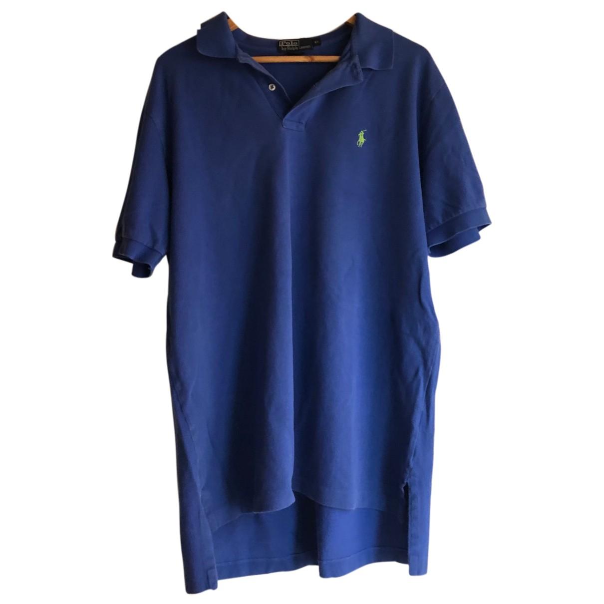 Polo Ralph Lauren Polo ajusté manches courtes Blue Cotton Polo shirts for Men XL International