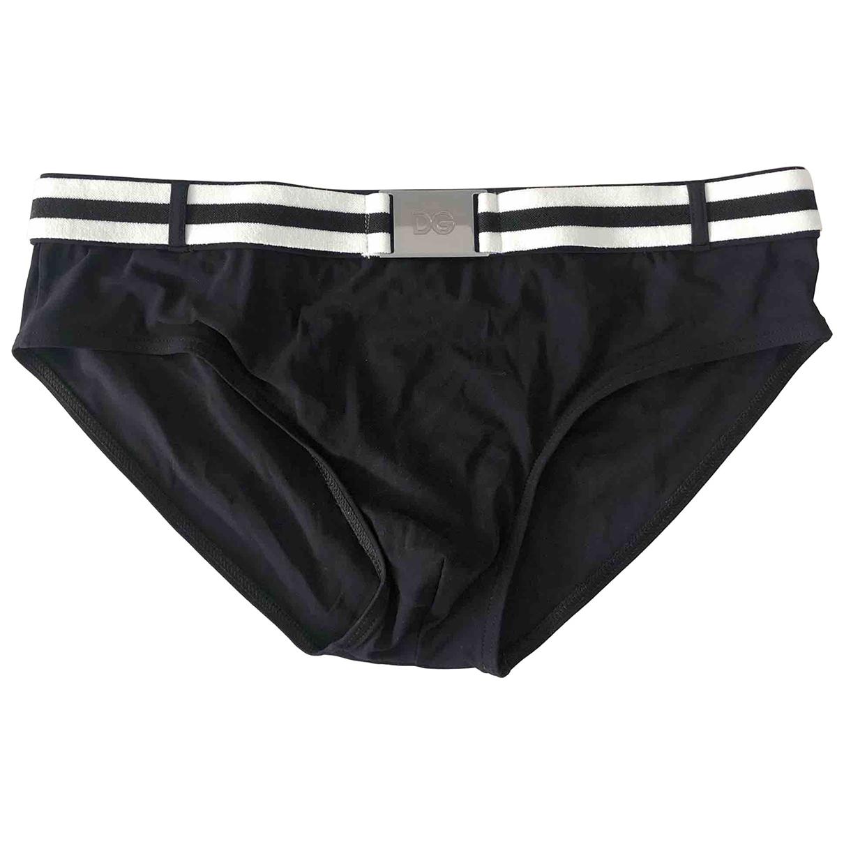 Dolce & Gabbana \N Black Cotton - elasthane Swimwear for Men 48 IT