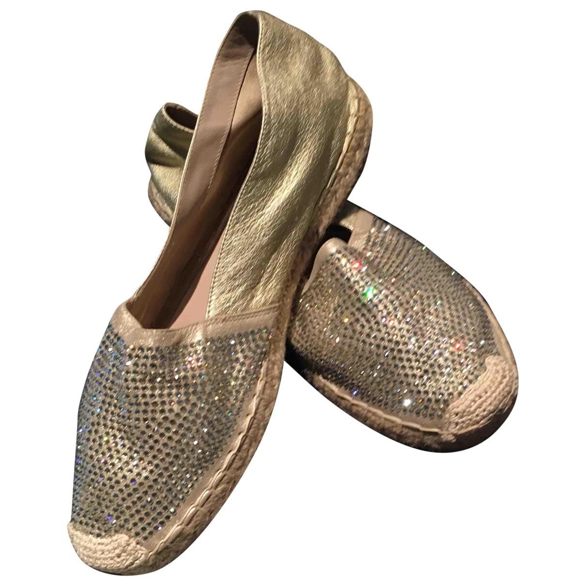 Le Silla - Espadrilles   pour femme en cuir - beige