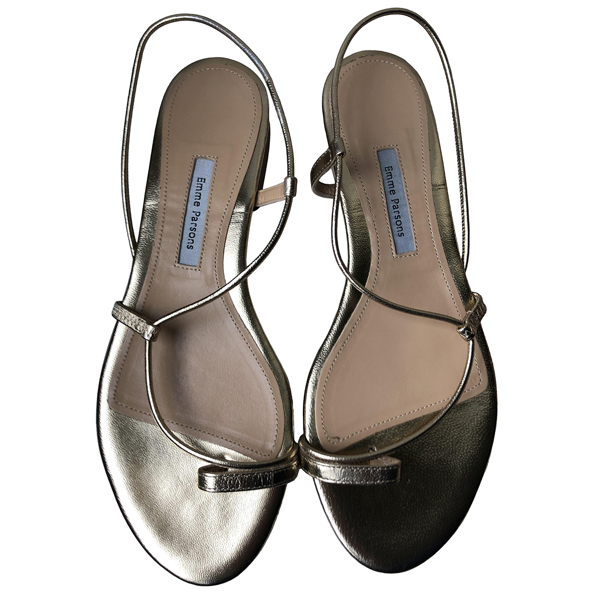 Emme Parsons \N Sandalen in  Metallic Leder
