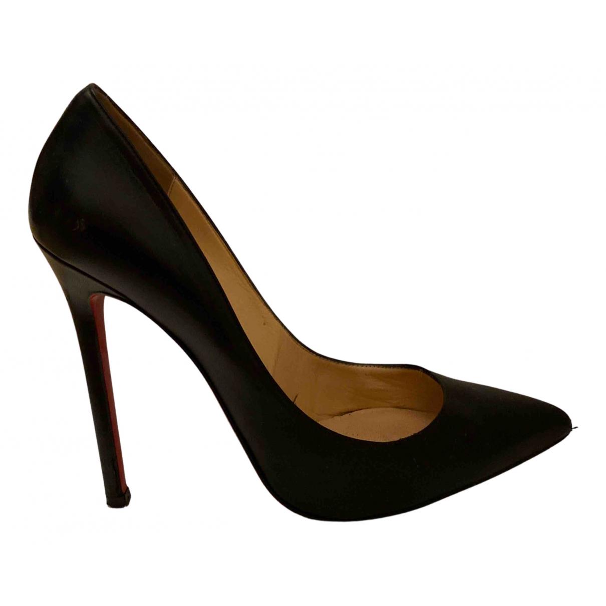 Christian Louboutin So Kate  Black Leather Heels for Women 39.5 EU