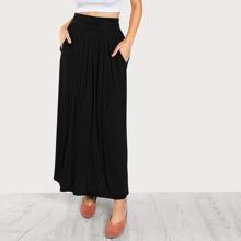 Ruched Waist Jersey Skirt