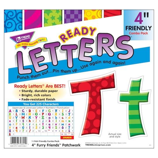 Trend Enterprises Patchwork Furry Friends® 4 Friendly Uppercase/lowercase Combo ct Ready Letters® | Michaels®