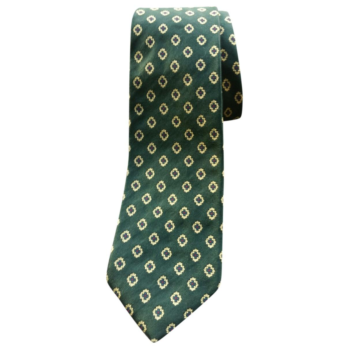 Faconnable \N Green Silk Ties for Men \N