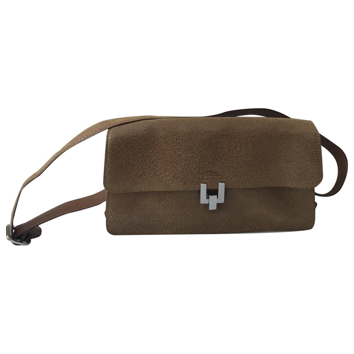 Longchamp \N Handtasche in  Kamel Veloursleder