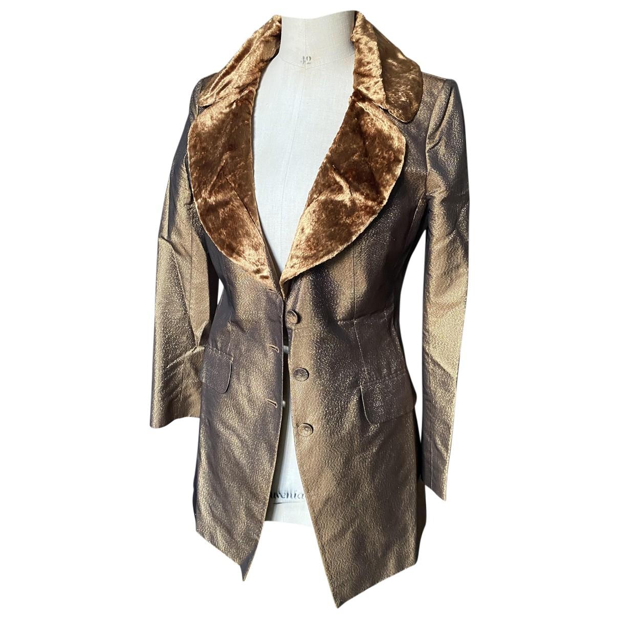 Autre Marque - Veste   pour femme en soie - dore