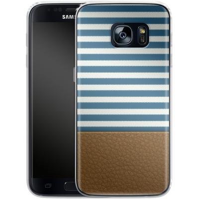 Samsung Galaxy S7 Silikon Handyhuelle - Nautical von caseable Designs