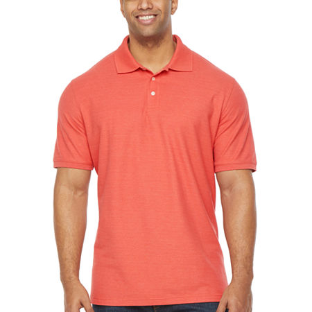 The Foundry Big & Tall Supply Co. Big and Tall Mens Short Sleeve Polo Shirt, 4x-large , Orange
