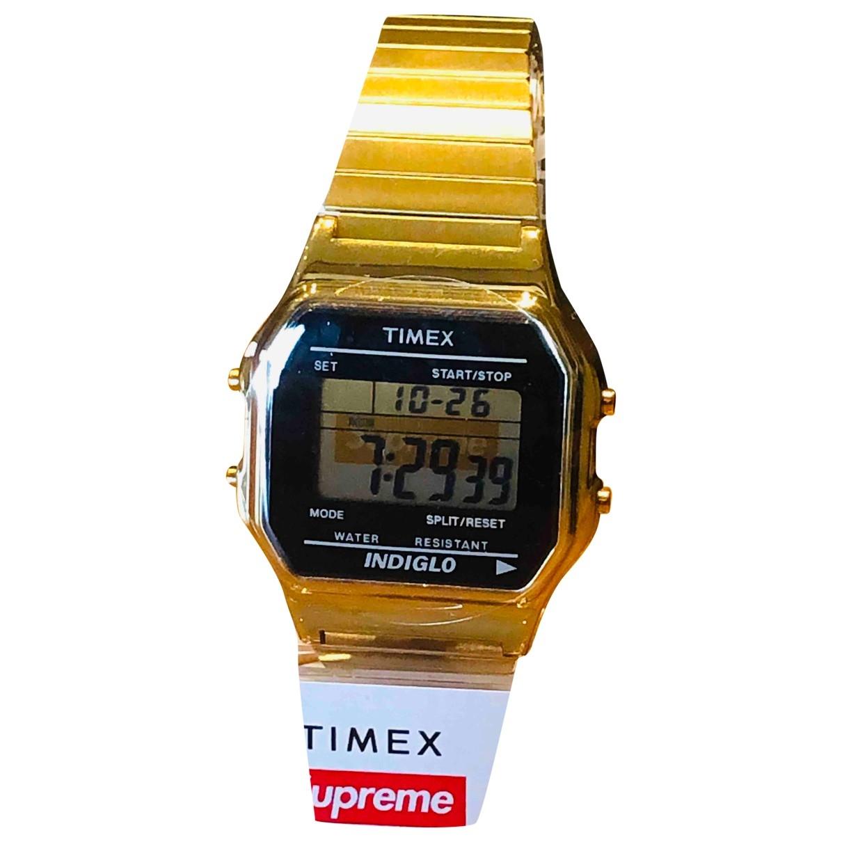 Supreme \N Uhr in  Gold Stahl