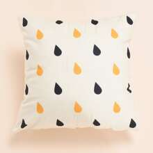 Raindrop Print Cushion Cover Without Filler