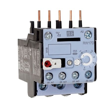 WEG Thermal Overload Relay - NO/NC, 2.8 A F.L.C, 1.8 → 2.8 A Contact Rating, 0.9 → 1.4 W, 3P