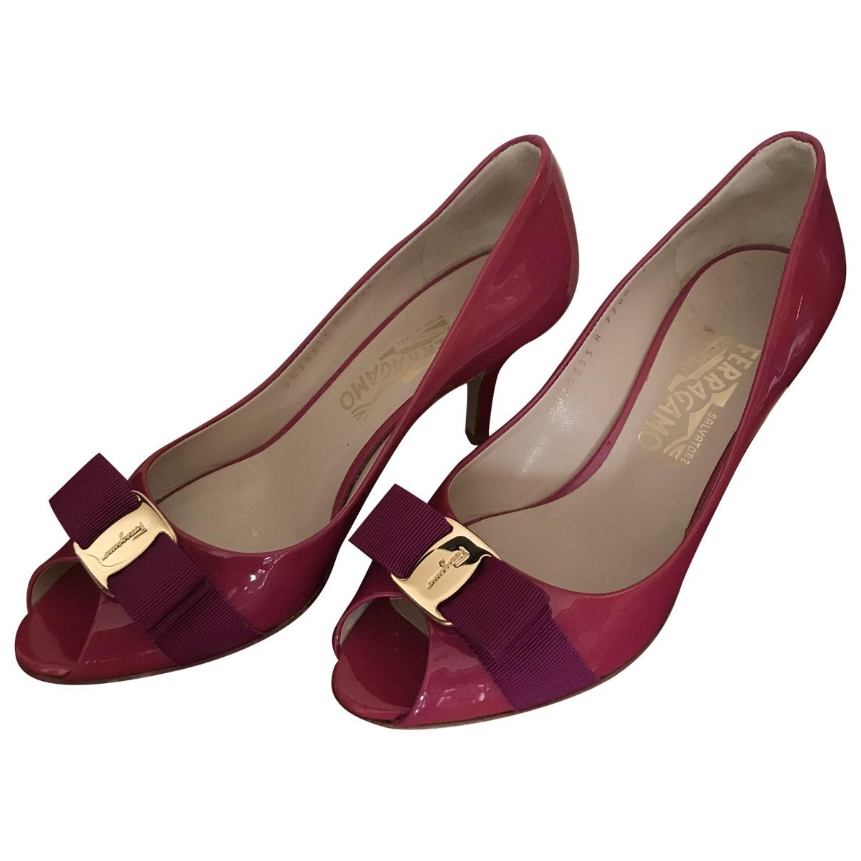 Salvatore Ferragamo \N Pink Patent leather Heels for Women 7 US
