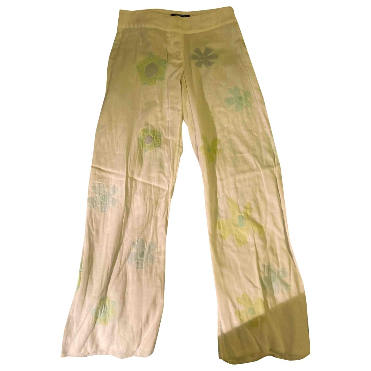 Aspesi \N White Cotton Trousers for Women 40 IT