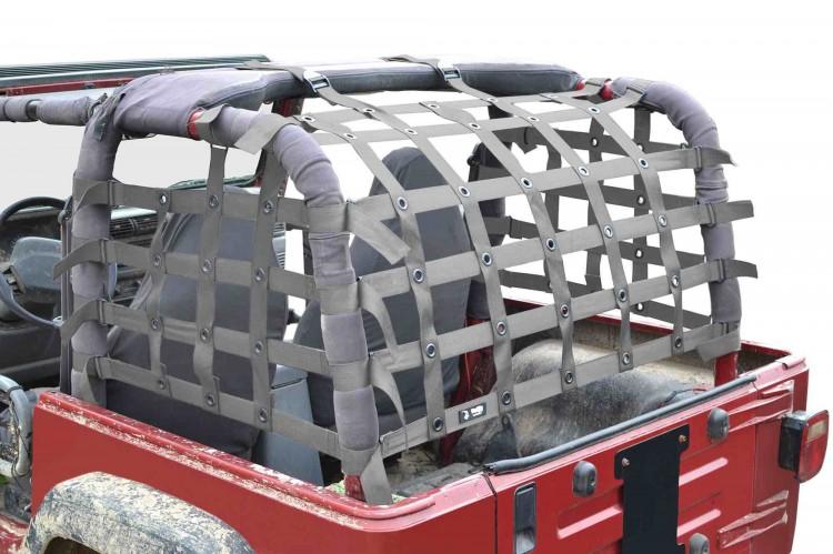 Steinjager J0047019 Cargo Net Wrangler TJ 1997-2006 Premium Gray