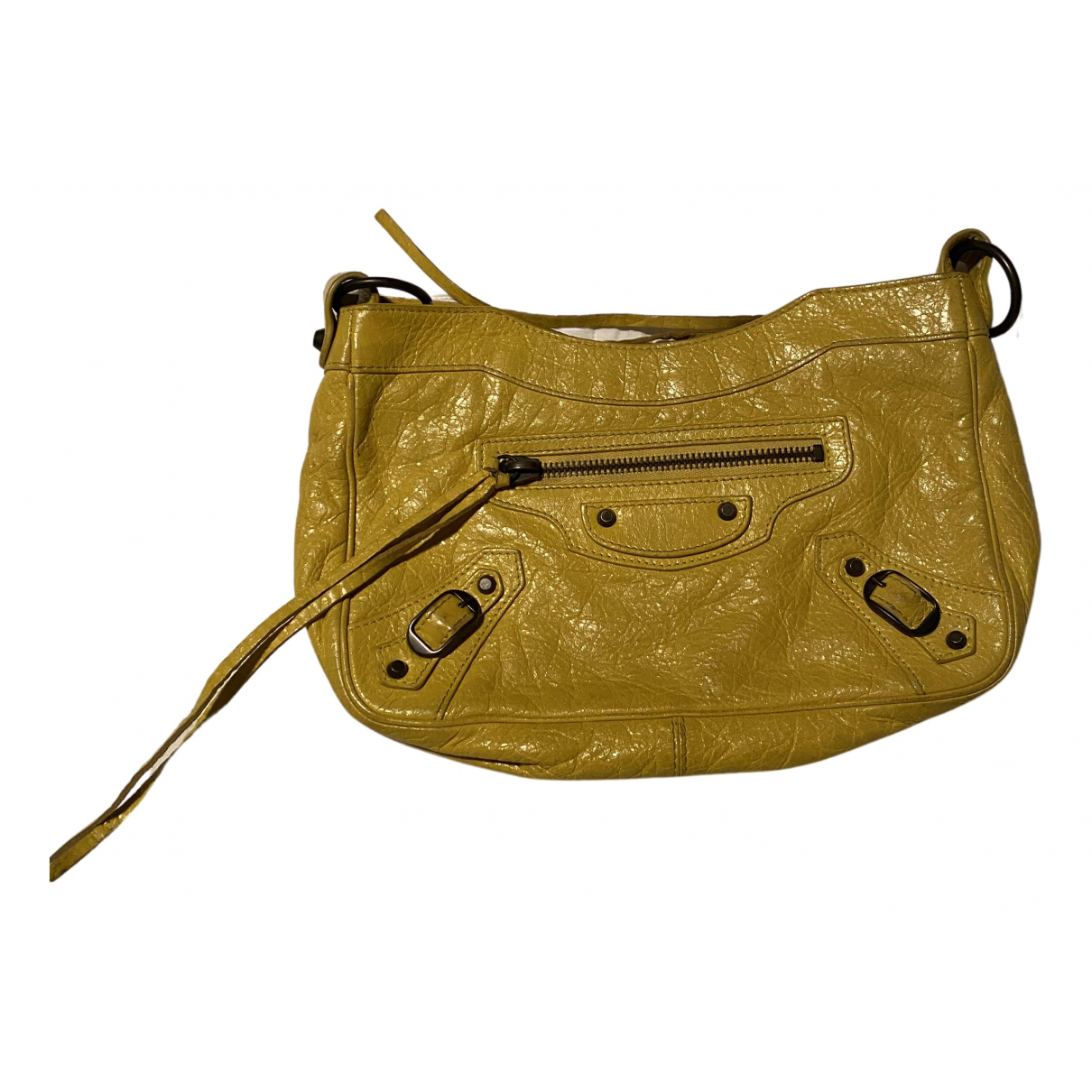 Balenciaga \N Clutch in  Gelb Leder